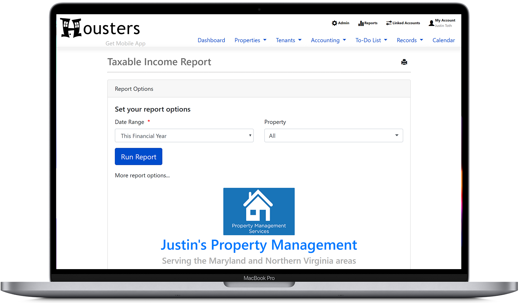 View a report showing how users can brand their rental reports